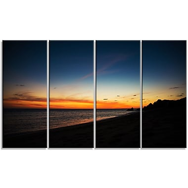 DesignArt 'Sunset Over Beach in Cabo St. Lucas' Photographic Print Multi-Piece Image on Canvas