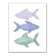 Jetty Home 'Tribal Fish' Drawing Print