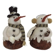 Red Barrel Studio 2 Piece Country Snow Couple Stuffed Holiday Accent Set