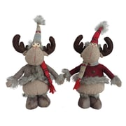 Red Barrel Studio 2 Piece Standing Country Moose Stuffed Holiday Accent Set
