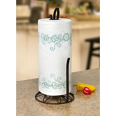 Rebrilliant Paper Towel Holder; Black