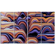 DesignArt 'Abstract Mountains 3D Texture' Graphic Art Print Multi-Piece Image on Canvas