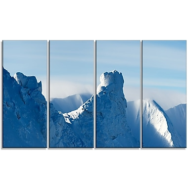 DesignArt 'Blue Winter Hills Panorama' Photographic Print Multi-Piece Image on Canvas