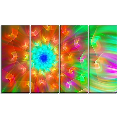 DesignArt 'Amazing Petals Dandelion' Graphic Art Print Multi-Piece Image on Canvas