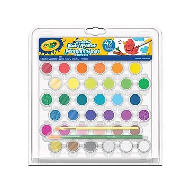 Crayola® – Ensemble de peintures lavables, paq./42