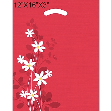 Marlo Packaging 12 x 16 x 3 Design Saks, Printed Daisy, 500/Pack