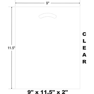 Marlo Packaging 9 x 11.5 x 2 Clear D/C Bag, Biodegradable, 500/Pack