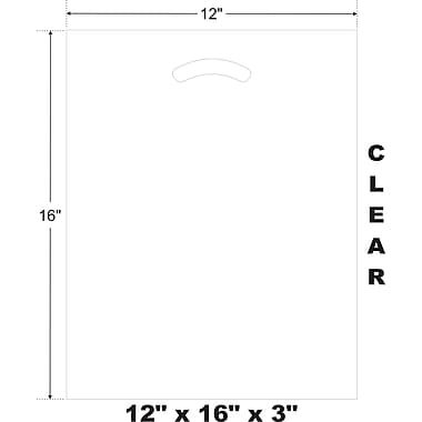 Marlo Packaging 12 x 16 x 3 Clear D/C Bag, Biodegradable, 500/Pack