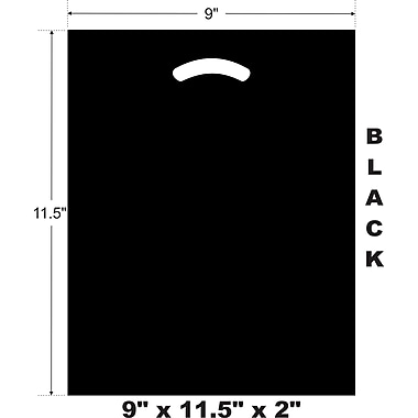 Marlo Packaging 9 x 11.5 x 2 Black D/C Bag, Biodegradable, 500/Pack