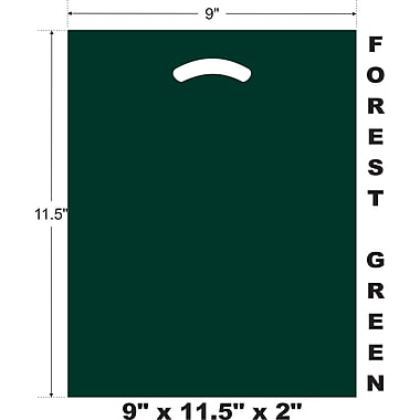 Marlo Packaging 9 x 11.5 x 2 Forest Green D/C Bag, Biodegradable, 500/Pack