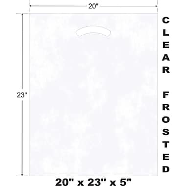 Marlo Packaging 20 x 23 x 5 Frosted D/C Bag, Biodegradable, 500/Pack