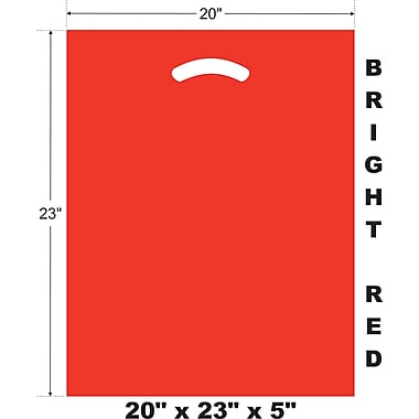 Marlo Packaging 20 x 23 x 5 Red D/C Bag, Biodegradable, 500/Pack