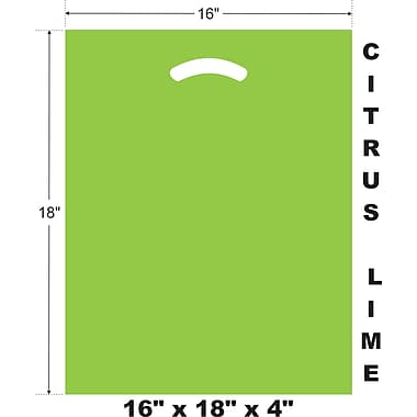 Marlo Packaging 16 x 18 x 4 Citrus Lime D/C Bag, Biodegradable, 500/Pack