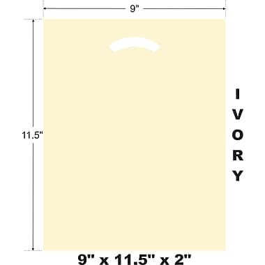 Marlo Packaging 9 x 11.5 x 2 Ivory D/C Bag, Biodegradable, 500/Pack