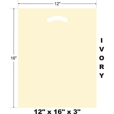 Marlo Packaging 12 x 16 x 3 Ivory D/C Bag, Biodegradable, 500/Pack