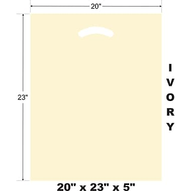 Marlo Packaging 20 x 23 x 5 Ivory D/C Bag, Biodegradable, 500/Pack