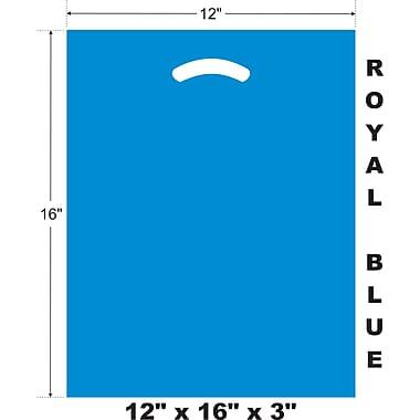 Marlo Packaging 12 x 16 x 3 Royal Blue D/C Bag, Biodegradable, 500/Pack