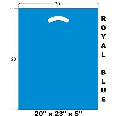 Marlo Packaging 20 x 23 x 5 Royal Blue D/C Bag, Biodegradable, 500/Pack