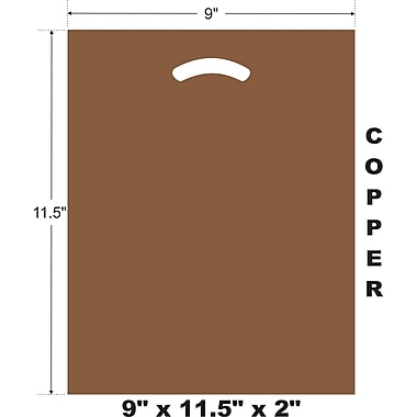 Marlo Packaging 9 x 11.5 x 2 Copper D/C Bag, Biodegradable, 500/Pack