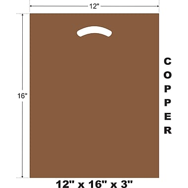 Marlo Packaging 12 x 16 x 3 Copper D/C Bag, Biodegradable, 500/Pack