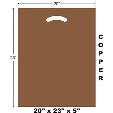 Marlo Packaging 20 x 23 x 5 Copper D/C Bag, Biodegradable, 500/Pack