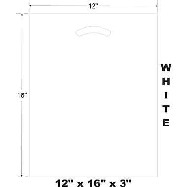 Marlo Packaging 12 x 16 x 3 White D/C Bag, Biodegradable, 500/Pack