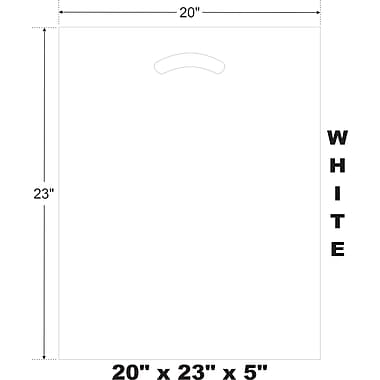 Marlo Packaging 20 x 23 x 5 White D/C Bag, Biodegradable, 500/Pack
