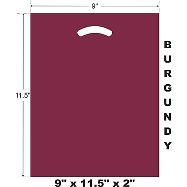 Marlo Packaging 9 x 11.5 x 2 Burgundy D/C Bag, Biodegradable, 500/Pack