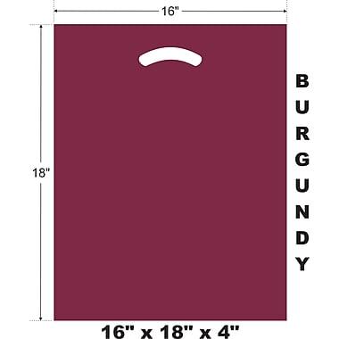 Marlo Packaging 16 x 18 x 4 Burgundy D/C Bag, Biodegradable, 500/Pack