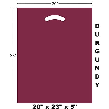 Marlo Packaging 20 x 23 x 5 BurgundyD/C Bag, Biodegradable, 500/Pack