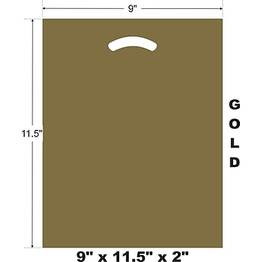 Marlo Packaging 9 x 11.5 x 2 Gold D/C Bag, Biodegradable, 500/Pack