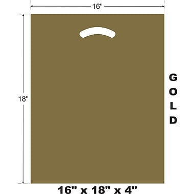 Marlo Packaging 16 x 18 x 4 Gold D/C Bag, Biodegradable, 500/Pack