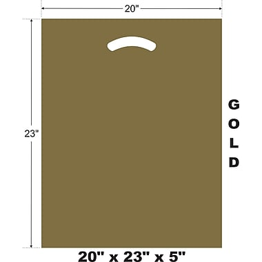 Marlo Packaging 20 x 23 x 5 Gold D/C Bag, Biodegradable, 500/Pack