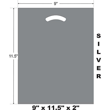 Marlo Packaging 9 x 11.5 x 2 Silver D/C Bag, Biodegradable, 500/Pack