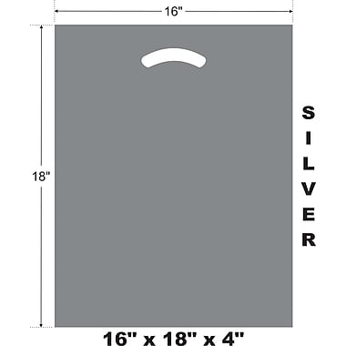 Marlo Packaging 16 x 18 x 4 Silver D/C Bag, Biodegradable, 500/Pack