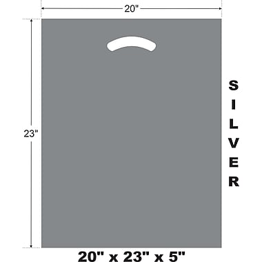 Marlo Packaging 20 x 23 x 5 Silver D/C Bag, Biodegradable, 500/Pack