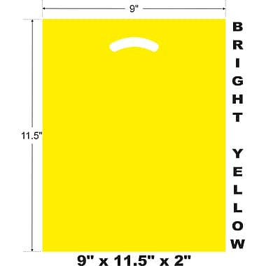 Marlo Packaging 9 x 11.5 x 2 Yellow D/C Bag, Biodegradable, 500/Pack