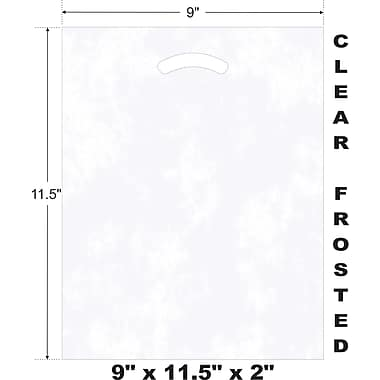 Marlo Packaging 9 x 11.5 x 2 Frosted D/C Bag, Biodegradable, 500/Pack