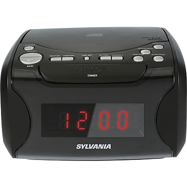 Sylvania Alarm Clock Radio w/CD Player & USB Charging (SCR4986)