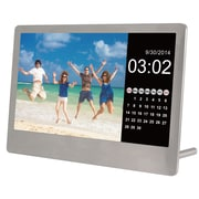"Sylvania 7"" Stainless Steel Digital Photo Frame with Remote (SDPF7977)"