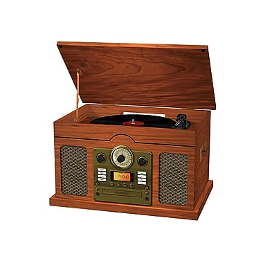 Sylvania Nostalgia 7-in-1 Bluetooth CD Turntable Recorder (SRCD844)