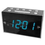 "Sylvania 1.2"" Jumbo Digit Dual Alarm Clock with AM/FM Radio (SCR1053)"