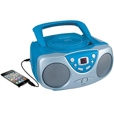 Sylvania Portable CD Player with AM/FM Radio Blue (SRCD243M-BLUE)