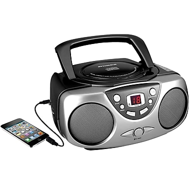 Sylvania Portable CD Player with AM/FM Radio Black (SRCD243M-BLACK)