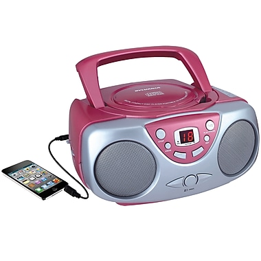 Sylvania Portable CD Player with AM/FM Radio Pink (SRCD243M-PINK)