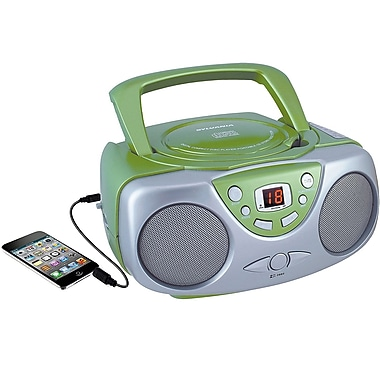 Sylvania Portable CD Player with AM/FM Radio Green (SRCD243M-GREEN)