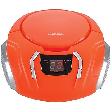 Sylvania Portable CD/Radio BoomBox Orange (SRCD261-C-ORANGE)