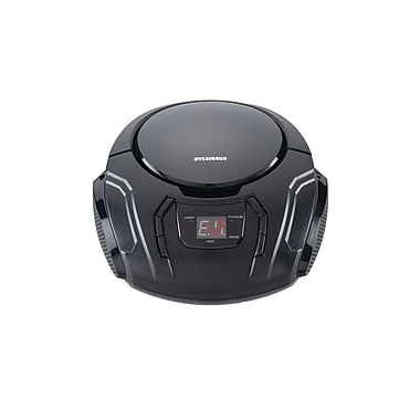 Sylvania Portable CD/Radio BoomBox Black (SRCD261-C-BLACK)
