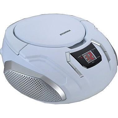 Sylvania Portable CD/Radio BoomBox White (SRCD261-C-WHITE)
