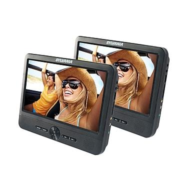 Sylvania - Lecteur de DVD portable de 9 po, deux écrans (SDVD9805)